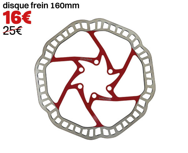 disque frein 160mm rouge