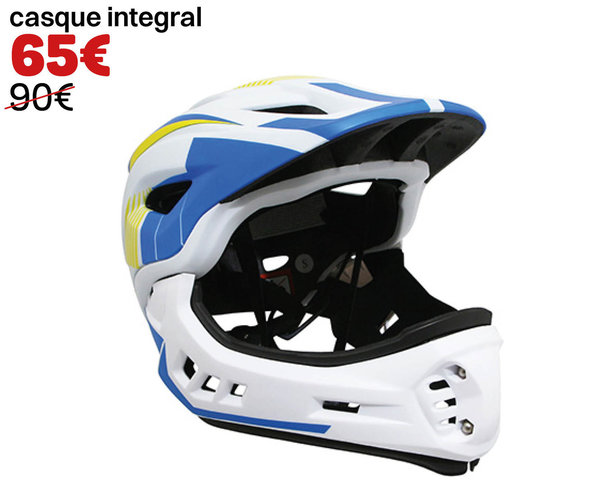 Casque integral mentonniere detachable