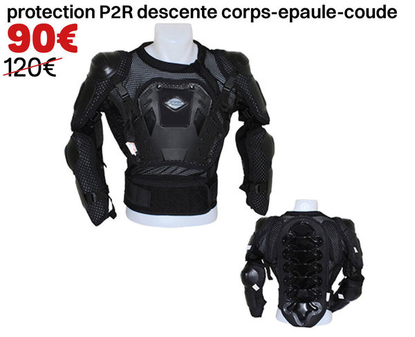 protection P2R descente corps-épaule-coude Taille XS