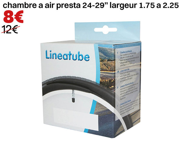 "chambre a air presta 24-29"" largeur 1.75 a 2.25 sans demonter la roue"