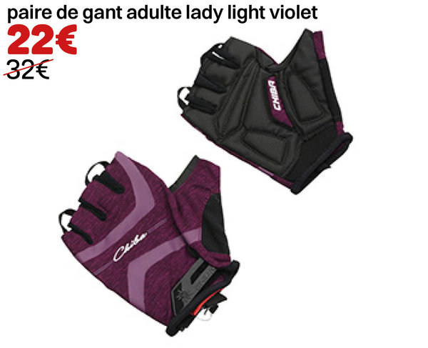 paire de gant adulte lady light violet