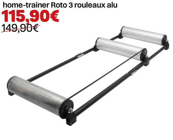 Home-trainer Roto 3 rouleaux alu