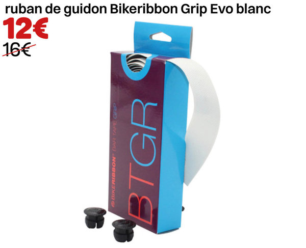 ruban de guidon Bikeribbon Grip Evo blanc