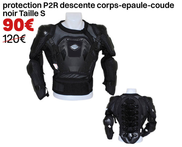 protection descente corps-epaule-coude noir Taille S
