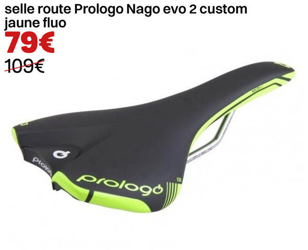 selle route Prologo Nago evo 2 custom jaune fluo