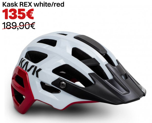 Kask REX white/red