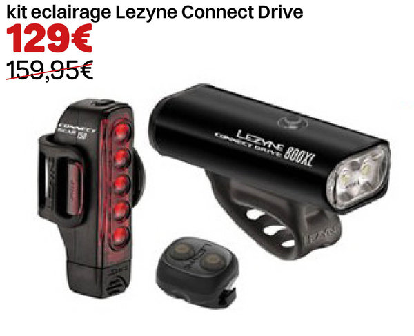 kit eclairage Lezyne Connect Drive