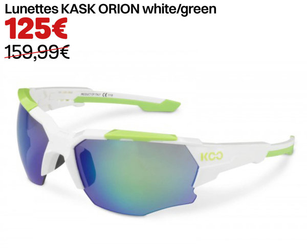 Lunettes KASK ORION white/green