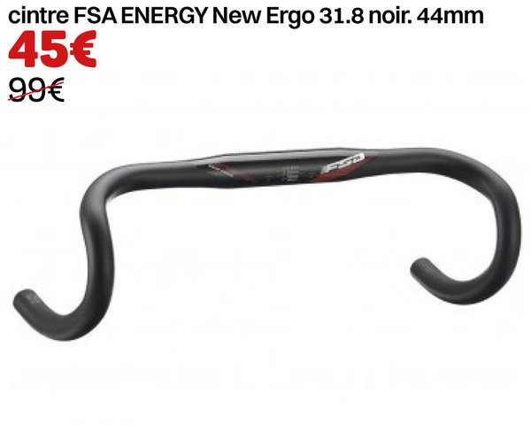 cintre FSA ENERGY New Ergo 31.8 noir. 44mm