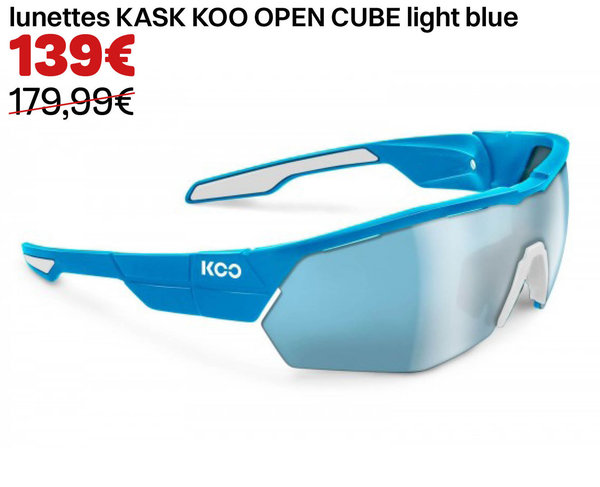 lunettes KASK KOO OPEN CUBE light blue