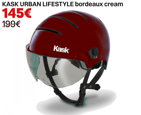 KASK URBAN LIFESTYLE bordeaux cream