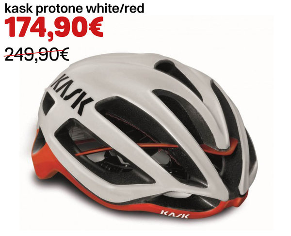 kask protone white/red