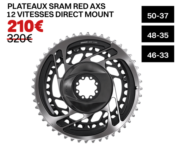 PLATEAUX SRAM RED AXS 12 VITESSES DIRECT MOUNT