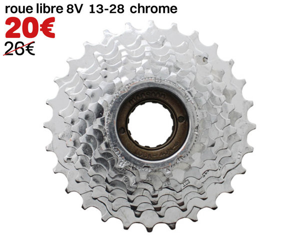 roue libre 8V 13-28 chrome