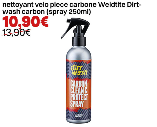 nettoyant velo piece carbone Weldtite Dirtwash carbon (spray 250ml)